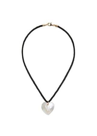 MANGO Sheashell heart necklace