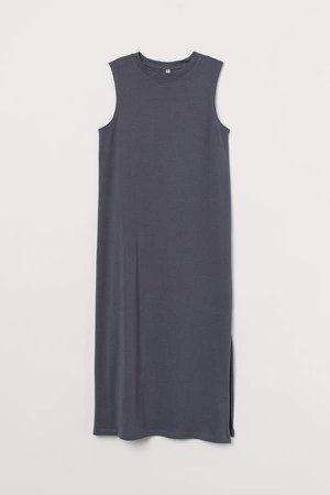 Cotton Jersey Dress - Gray