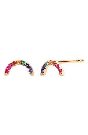 EF Collection Diamond Rainbow Stud Earrings | Nordstrom