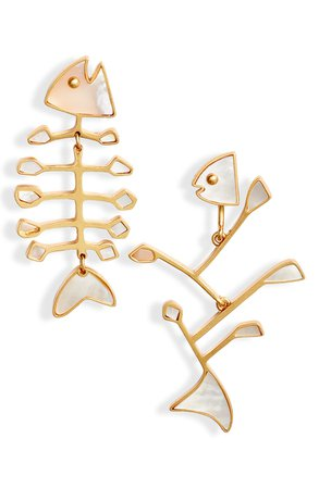 Tory Burch Small Mismatched Fish Earrings | Nordstrom