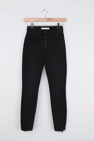 Chic Black Skinny Jeans - High-Waisted Skinny Jeans - Denim Jeans - Lulus