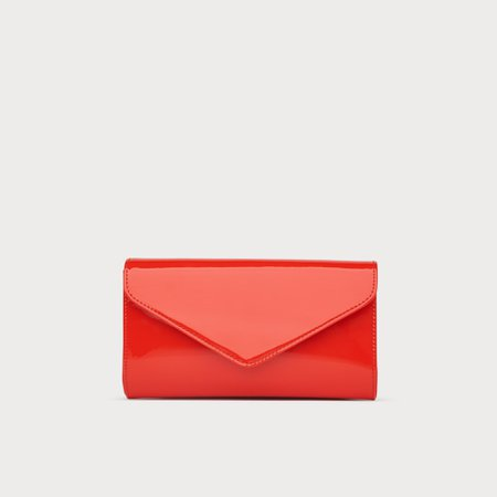 Lucia Orange Patent Clutch | View All | Handbags | Collections | L.K.Bennett, London