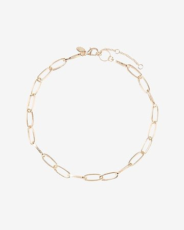 Omega & Paperclip Chain Toggle Necklace Set | Express