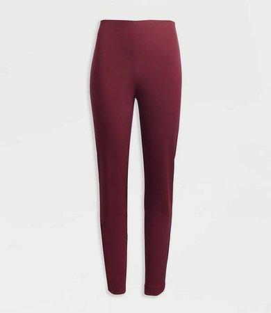 Petite Curvy Side Zip High Waist Skinny Pants