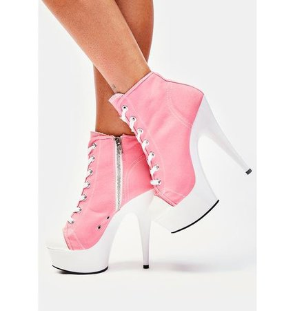 Pleaser Delight Stiletto Boot Heels