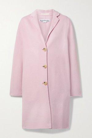Oversized Wool-felt Coat - Lilac