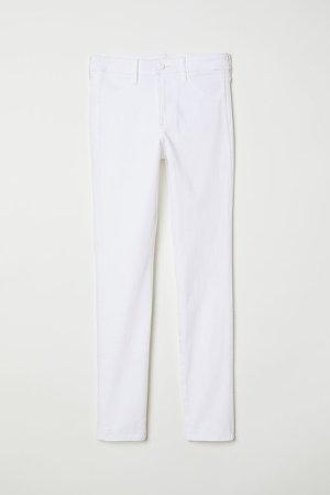 Skinny Regular Ankle Jeans - White