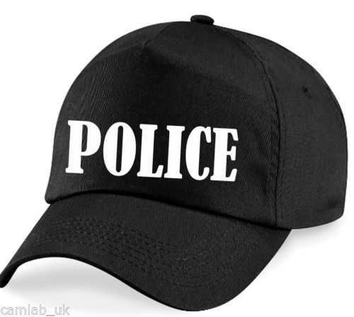 Police baseball hat cap ideal fancy dress up costume | eBay