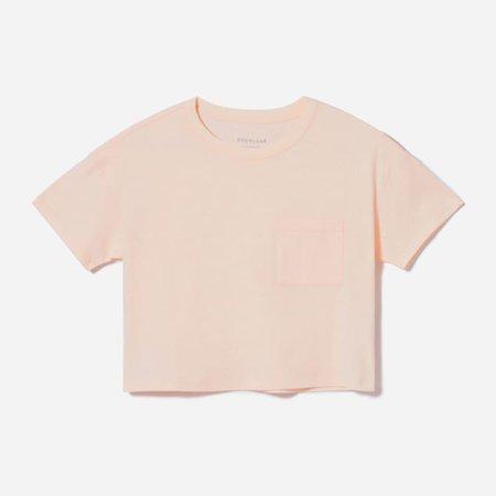 Women's ReCotton Cropped Pocket Tee | Everlane pink