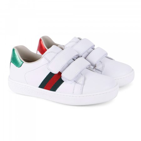 Gucci Leather Sneakers in White - BAMBINIFASHION.COM