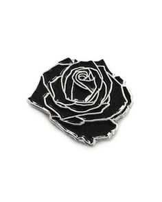 Black Rose Pin - Strange Ways - Pinterest