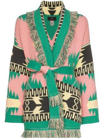 Alanui geometric jacquard cashmere cardigan £2,265 - Shop Online - Fast Global Shipping, Price