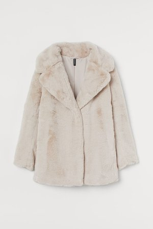 Faux Fur Jacket - Light beige - Ladies | H&M US