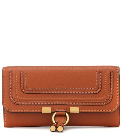 Marcie flap-over leather wallet