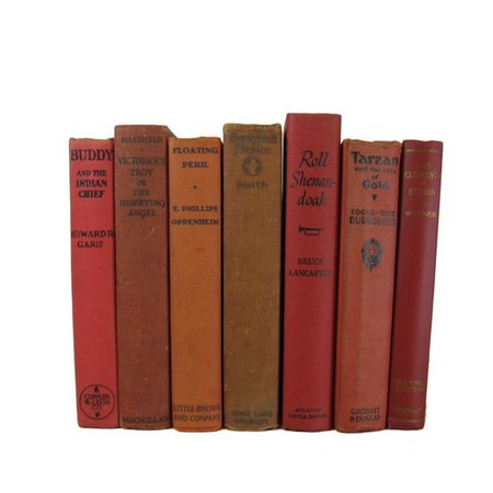 Decorative Books for Shelf Decor and Staging Dark Red Tan | Etsy