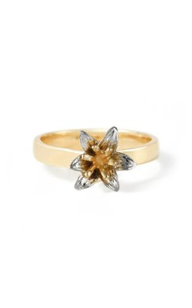 Lily 14k Yellow And White Gold Ring By Bernard James | Moda Operandi