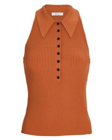 A.L.C. Asher Rib Knit Polo Tank Top | INTERMIX®
