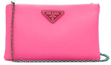 Neon Padded Clutch - Womens - Pink
