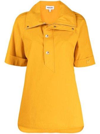 Kenzo large-collar polo shirt yellow FB52TO1899SA - Farfetch