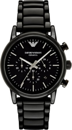 Men's Black Ceramic Emporio Armani AR1507 Watch