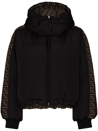 Fendi Reversible FF Motif Puffer Jacket - Farfetch