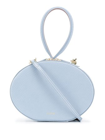 Cafuné Egg structured tote blue ACFNW00170120C - Farfetch