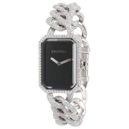Chanel Premiere H3260 Women's Diamond Watch in 18 Karat White Gold For Sale at 1stdibs