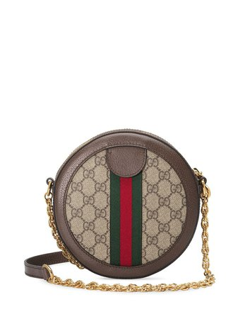 Shop Gucci Ophidia mini GG round shoulder bag with Express Delivery - FARFETCH