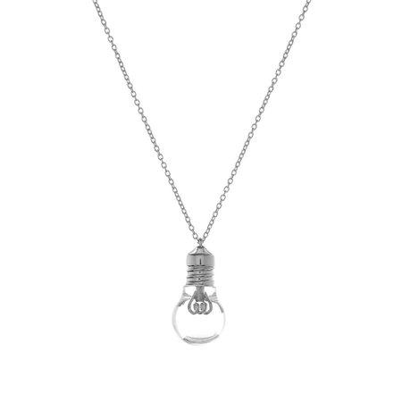Ambush Light Bulb Charm Necklace Silver   END.