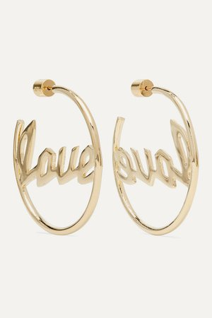 Jennifer Fisher | Love gold-plated hoop earrings | NET-A-PORTER.COM