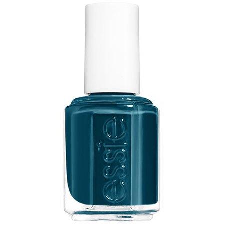 go overboard - dark sea blue nail polish & nail color - essie