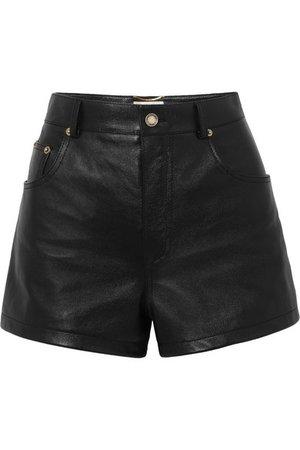 SAINT LAURENT | Embellished leather shorts | NET-A-PORTER.COM