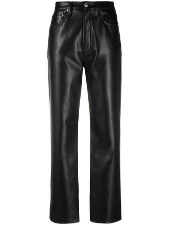 AGOLDE high-waisted Leather Trousers - Farfetch