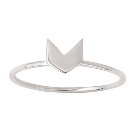Sterling Silver Chevron Ring | The Warehouse