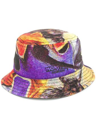 Acne Studios Monster In My Pocket Abstract Print Bucket Hat - Farfetch