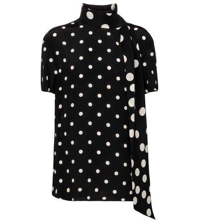 Valentino, polka-dot silk blouse