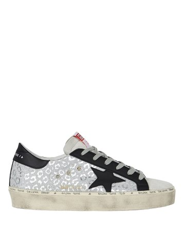 Golden Goose Hi Star Glitter Sneakers | INTERMIX®