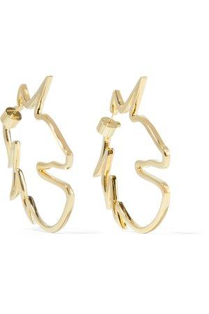 Jennifer Fisher | Unicorn gold-plated earrings | NET-A-PORTER.COM