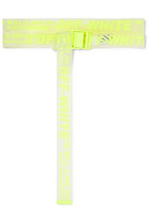 Off-White | Neon printed PVC belt | NET-A-PORTER.COM