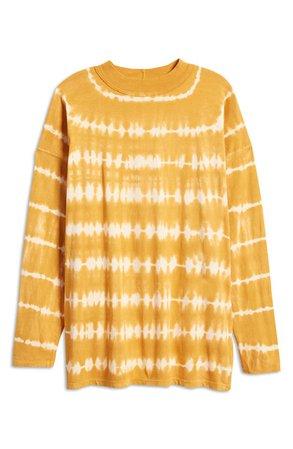 Be Free Tie Dye Oversize Long Sleeve T-Shirt   Nordstrom