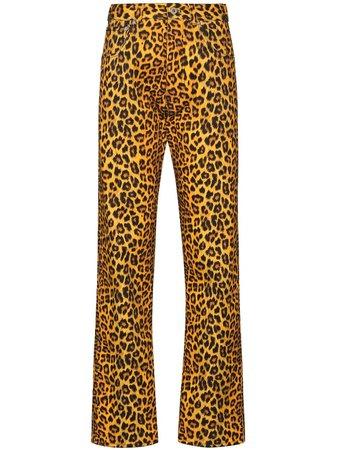 Kwaidan Editions Leopard Print Jeans - Farfetch