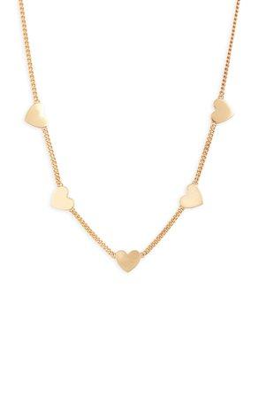 Stella & Dot Heart Station Necklace | Nordstrom