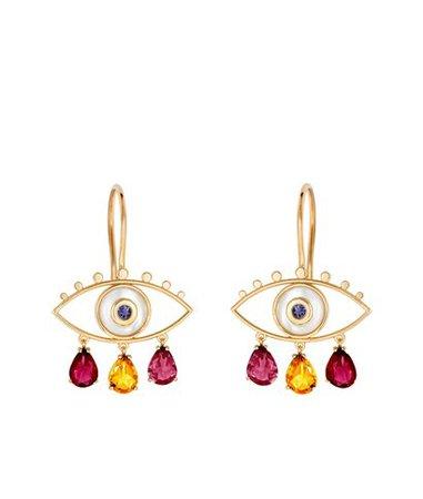 Marianna Goulandris Red Little Boho Eyes Earrings < Marianna Goulandris List | aesthet.com