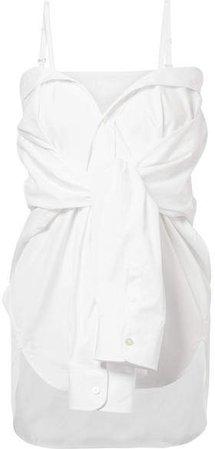 Convertible Cotton-poplin Shirt - White