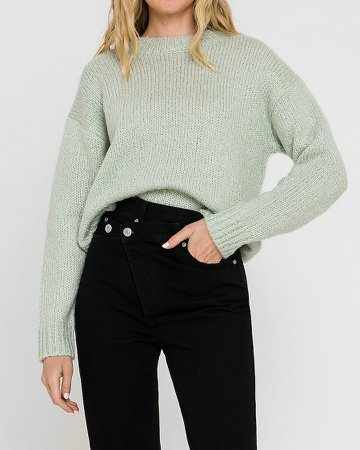 English Factory Long Sleeve Crew Neck Sweater