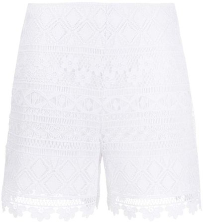 Embroidered Contrast Panel Shorts