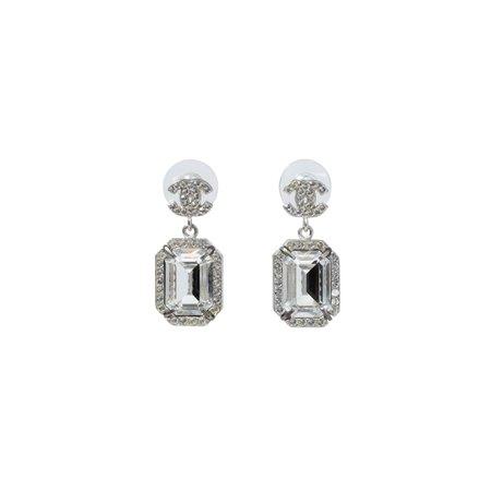 Chanel Large Crystal Drop Earrings