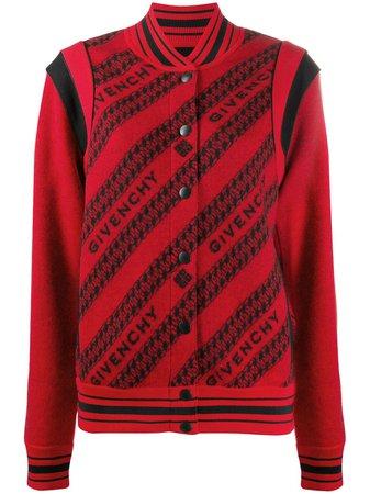 Givenchy logo-print Wool Bomber Jacket - Farfetch