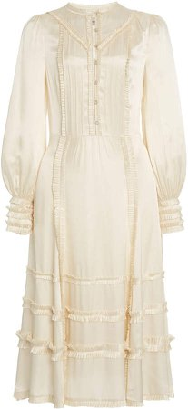 Temperley London Lily Frilled Crepe Dress