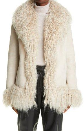 Bon Genuine Shearling Trim Jacket